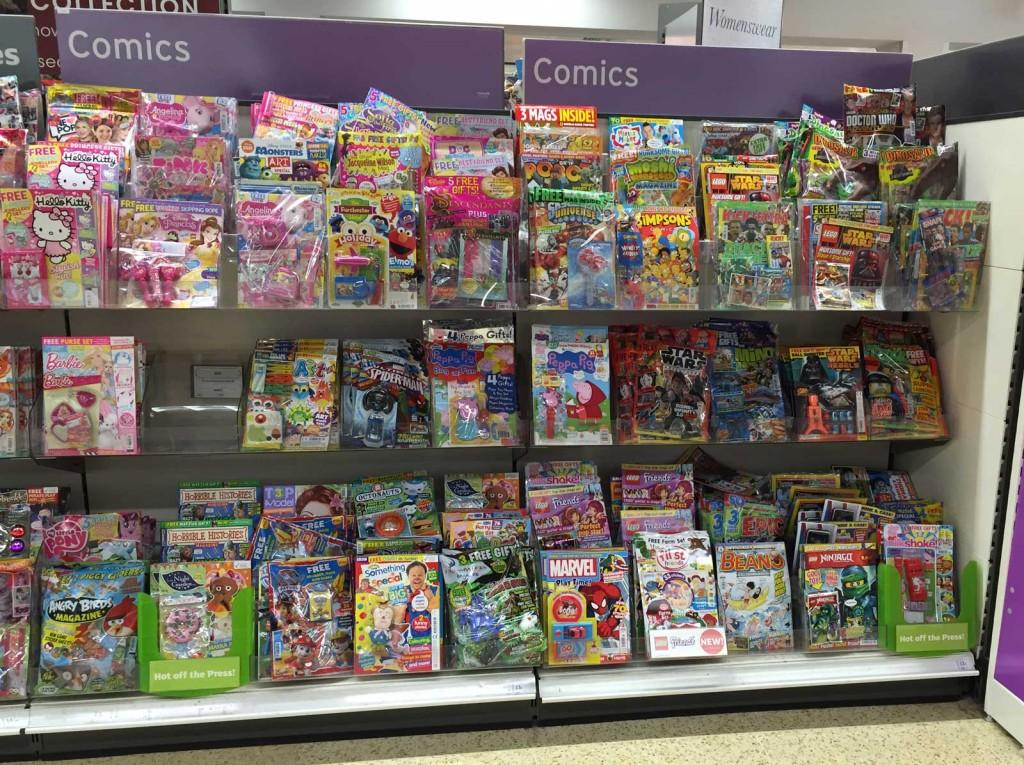 Sainsbury's Comics Section, Lancaster, 19th September 2015