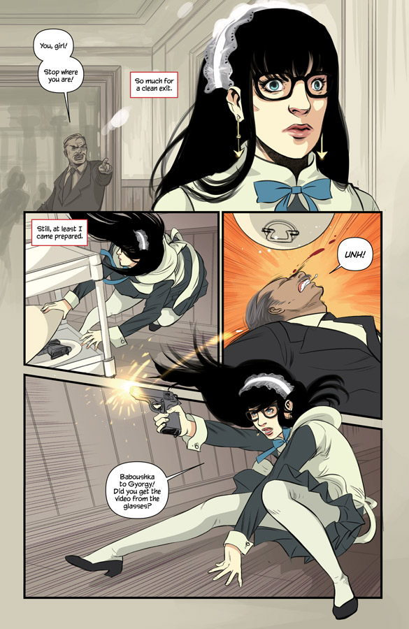 A page from Codename Baboushka #1