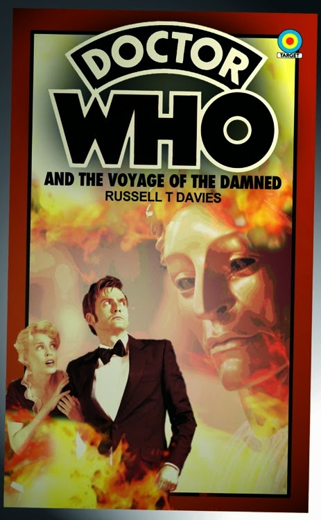 """Doctor Who """"Target Book"""": Voyage of the Damned. Art: Andrew-Mark Thompson"""