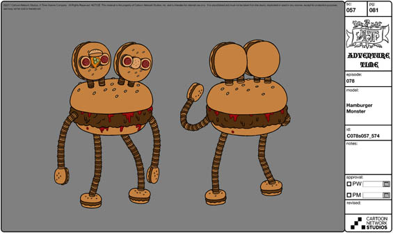 One of Michael's designs for Adventure Time.