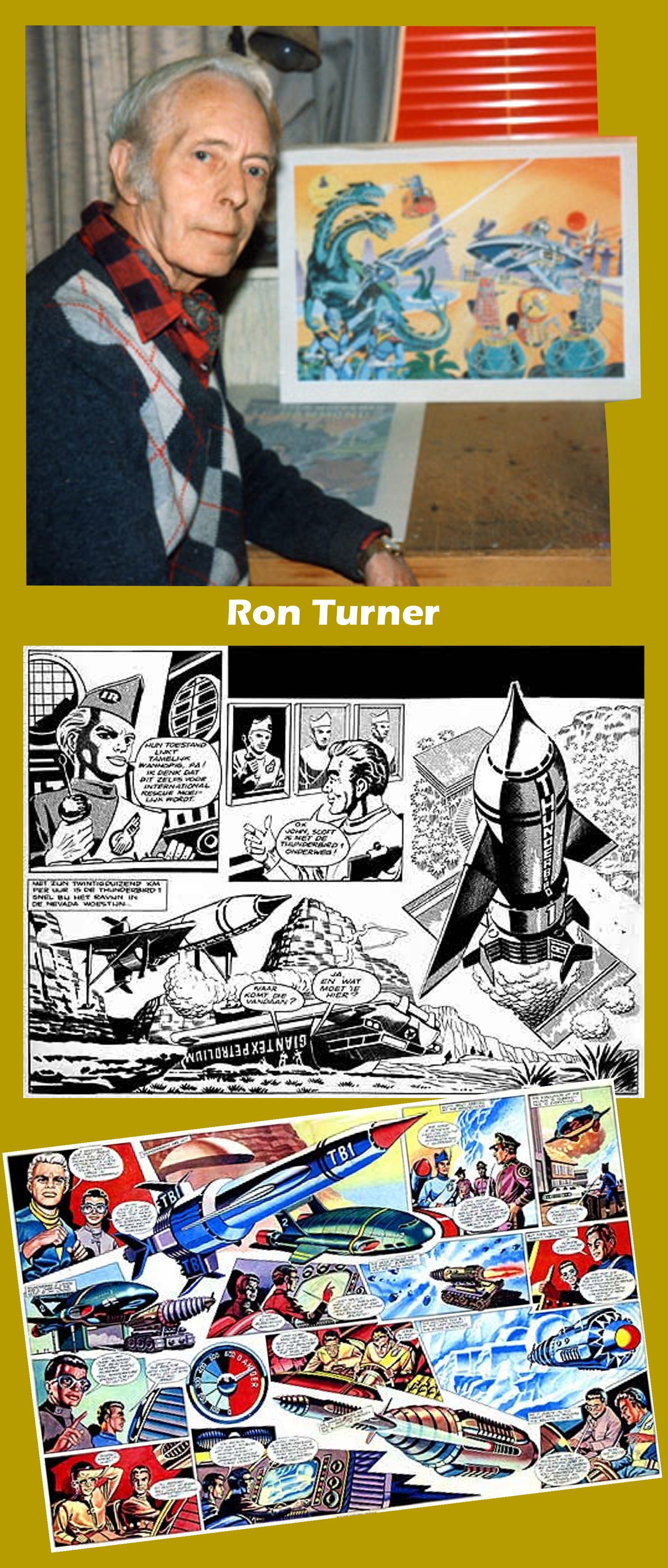 Ron Turner and some of his art. Graphic: Roger Perry