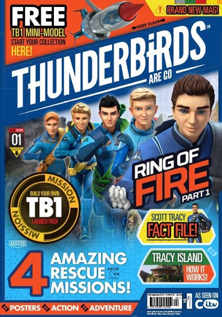 The cover of Thunderbirds Are Go Issue One, published by DC Thomson