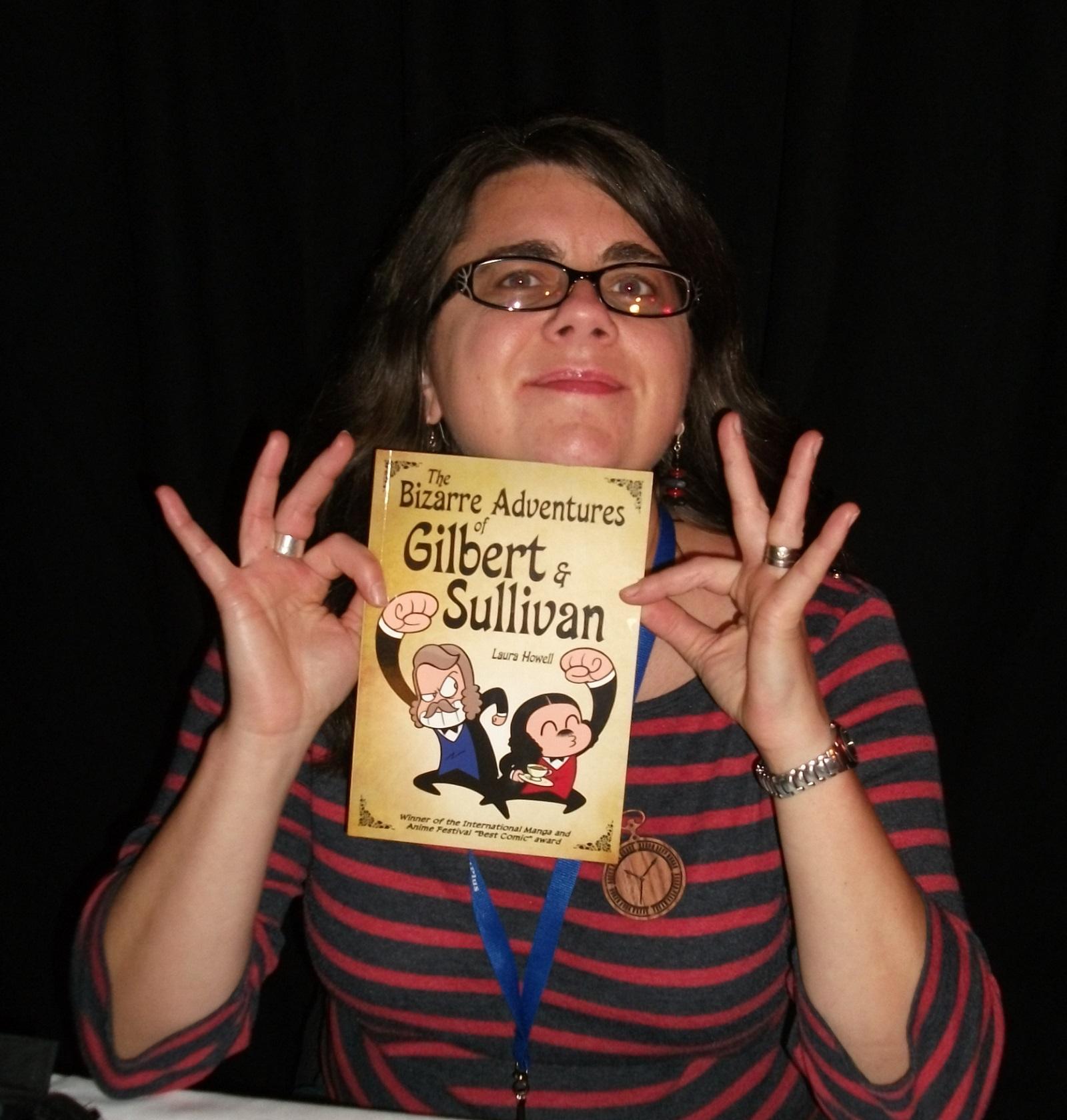 Laura Howell at last year's Lakes International Comic Art Festival.
