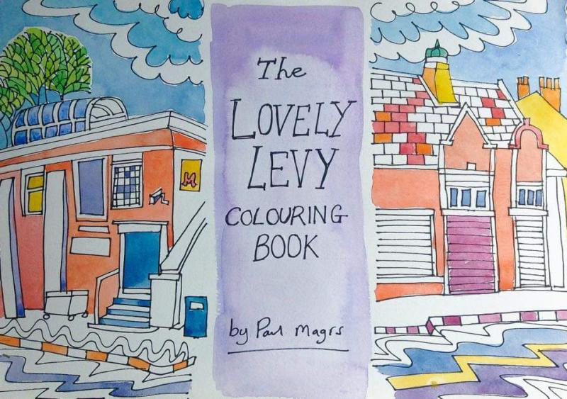 The Lovely Levy Colouring Book by Paul Magrs