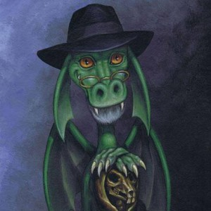 Art by Amber Grundy created for Sir Terry Pratchett, unconnected with the board game.
