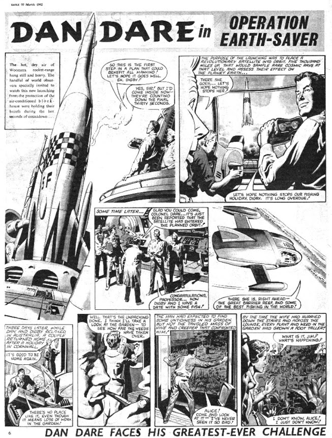 Operation Earthsaver - David's first Dan Dare story. Art by Keith Watson
