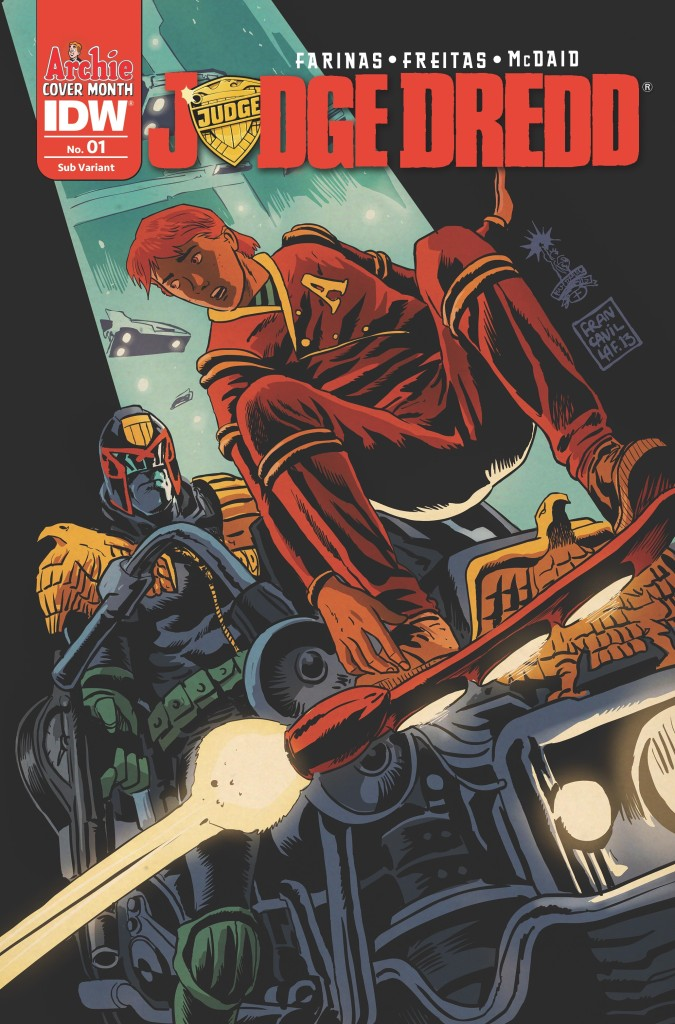Judge Dredd #1 — Archie 75th Anniversary Variant cover by Francesco Francavilla