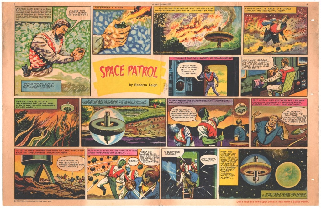 Space Patrol in TV Comic Issue 705, written by David Motton.