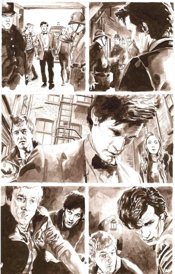 Art for the Eleventh Doctor story The Ripper's Curse, published by IDW.