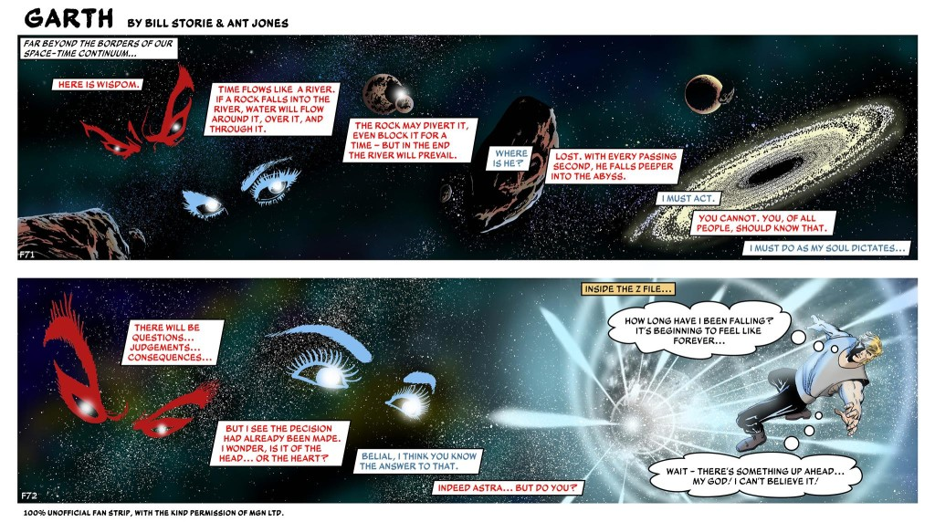 The Z-File 2: Inferno! Episode One, written and drawn by Bill Storie, coloured by Ant Jones
