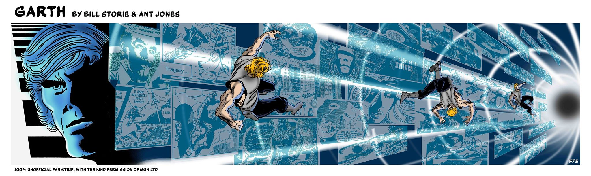 Art for the second online episode of Garth: The Z-File 2: Inferno! by Bill Storie, coloured by Ant Jones