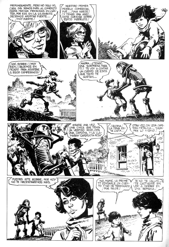A sample page from I Robot, published in Spanish by Editorial Brugera in 1983