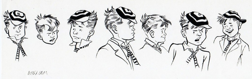 Just William character designs by Maureen and Gordon Gray
