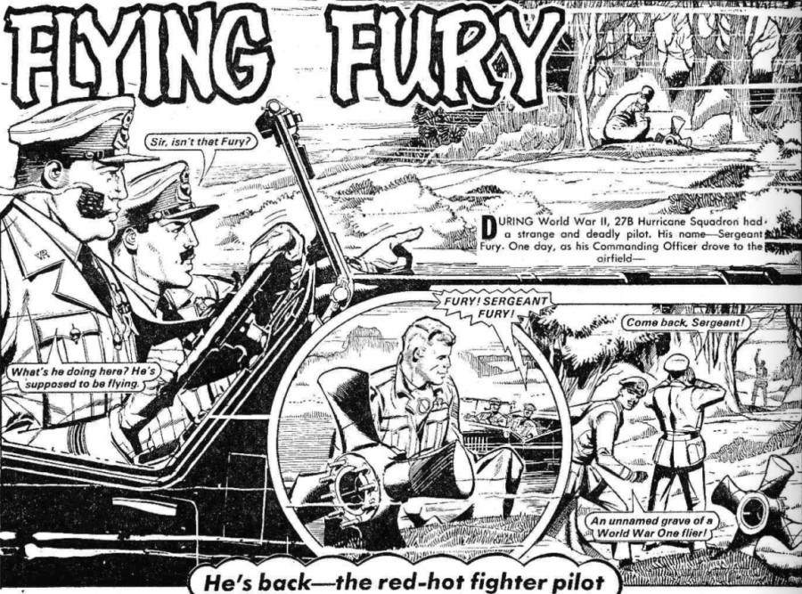 """The Hotspur Issue 1069 """"Flying Fury"""""""