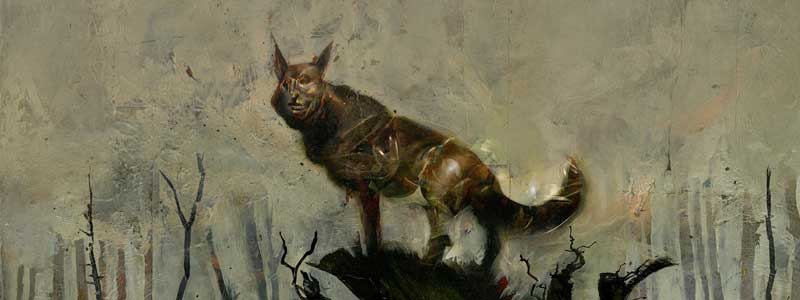 Part of the the cover of Black Dog – The Dreams of Paul Nash by Dave McKean