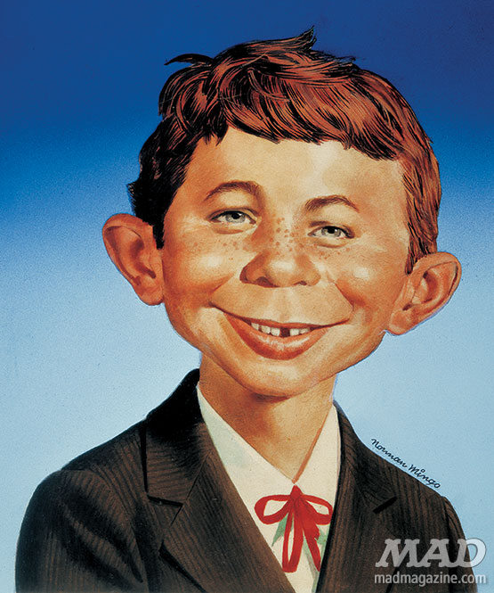 MAD Magazine's Alfred E. Neuman by Norman Mingo