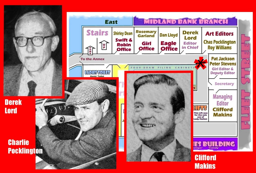Derek Lord, Charles Pocklington and Clifford Makins, plus floor plan