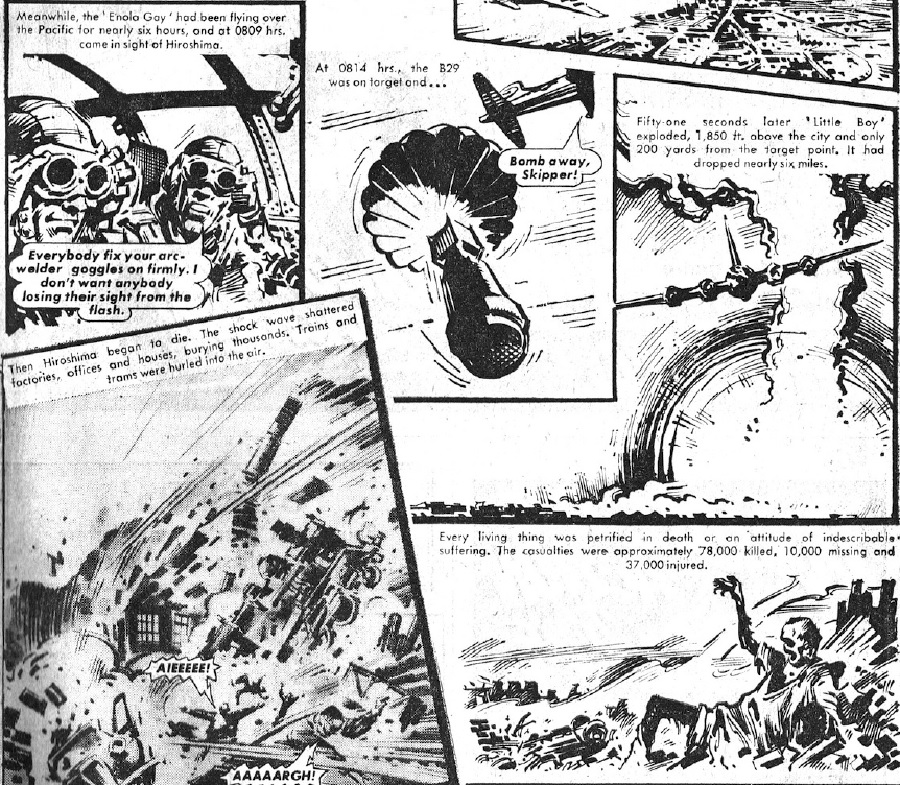 """Warlord Issue 254: """"Enola Gay"""" Page 2"""