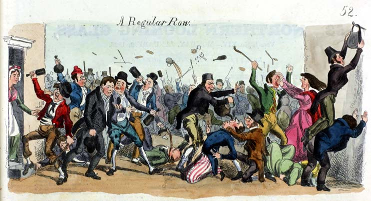 """A Regular Row"", from the Glasgow Looking Glass Number 14, published on 9th January 1826"