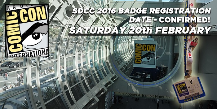 SDCC 2016 Badge Registration Image