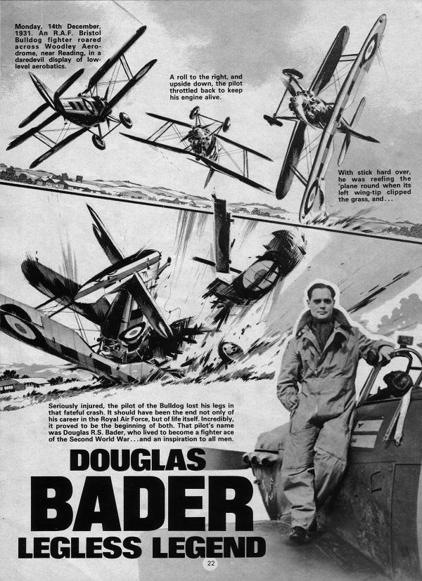 True War: The Douglas Bader Story, art by Ian Kennedy