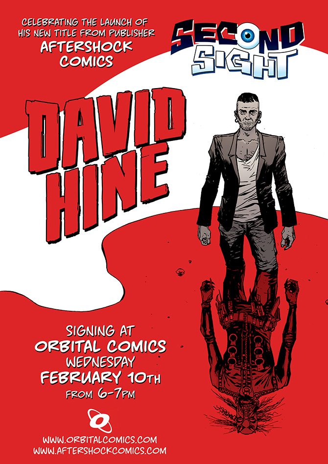Orbital Comics David Hine Signing 10th February 2016