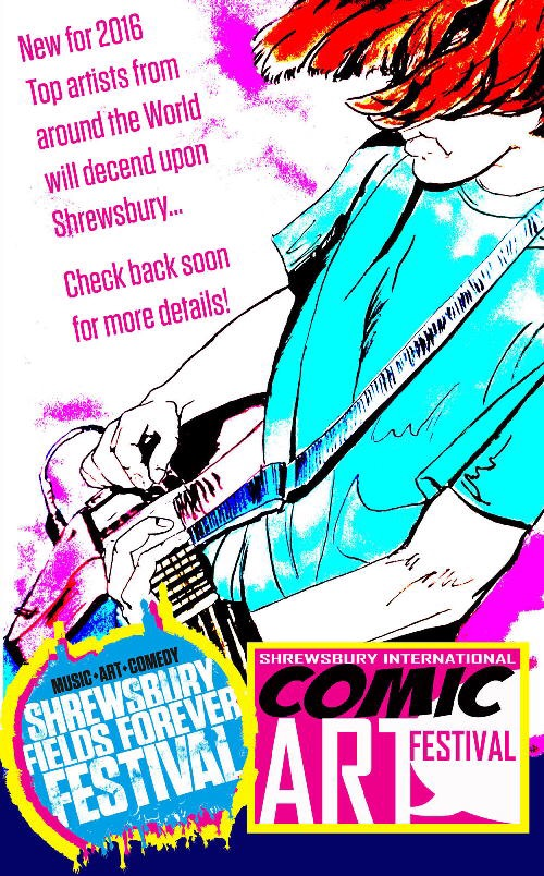 Shrewsbury International Comic Art Festival Promotional Art - Portrait