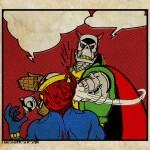 Death's Head versus Death's Head II art by Chris Holmes