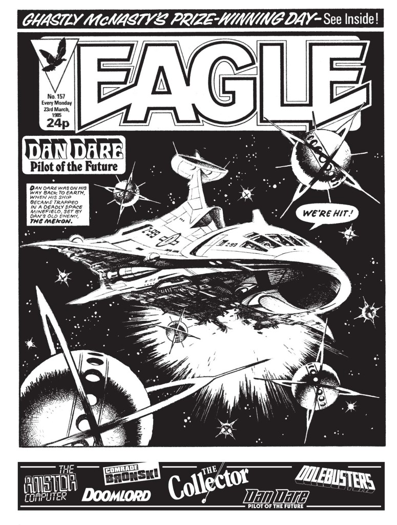 """A page from the Dan Dare story """"Mekon Minefield"""", drawn by Ian Kennedy"""