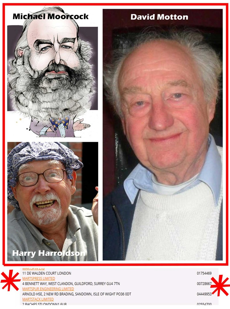 Michael Moorcock, Harry Harrison & David Motton