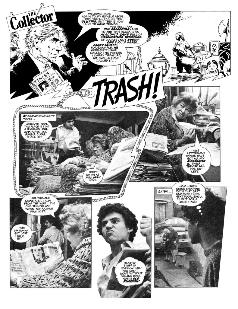 The Collector - Trash! written by Alan Moore - one of the modern Eagle's many photo strips
