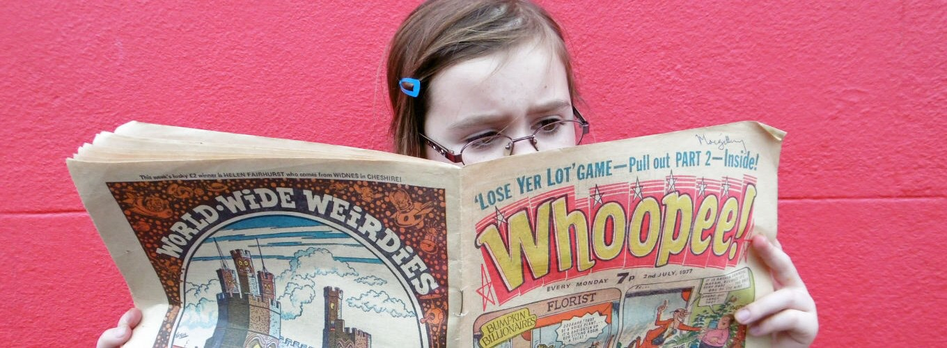Reading 'Whoopee!', 1977 © Acme Museum Services