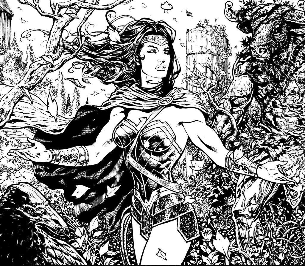 """A crop of a panel from one of Liam's first batch of pages from the 'Rebirth' Wonder Woman. """"I'm having an absolute ball with this,"""" says the former Marvel UK artist and current Madefire digital comics exec. Wonder Woman © DC"""