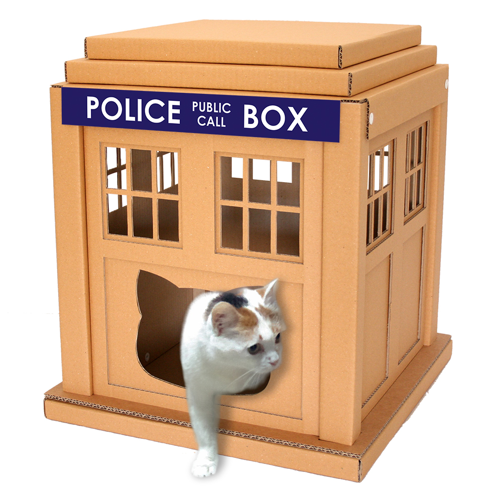 CacaoFurntiture TARDIS Cat Box