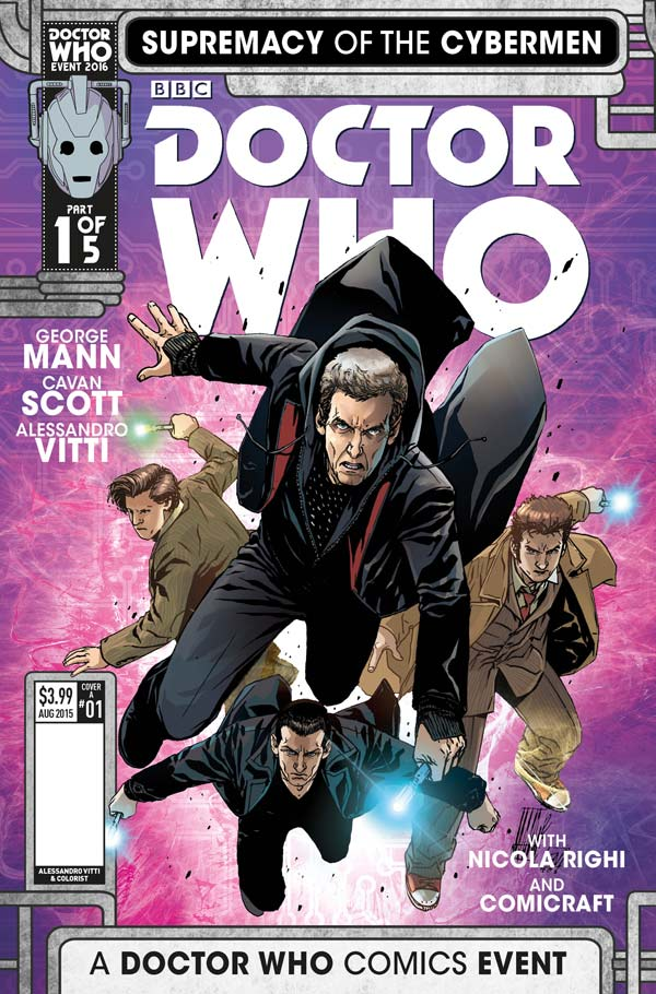 Doctor Who Event 2016 Supremacy Of The Cybermen 1 Cover A By Alessandro Vitti