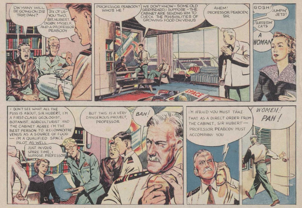 """Professor Peabody's controversial arrival in """"Dan Dare"""", Eagle No. 5"""