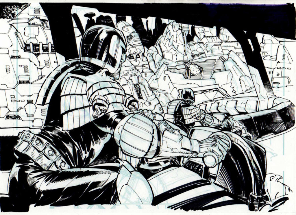 Judge Dredd by Staz Johnson