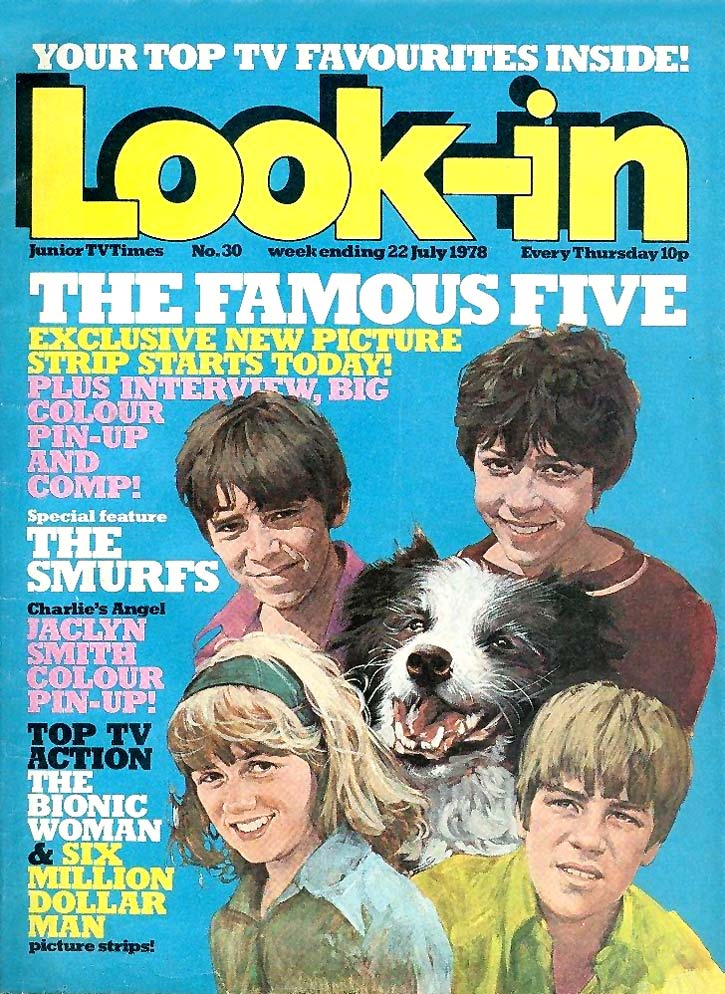 The Famous Five debuted in Look-In in August 1978, in a strip based on the TV series