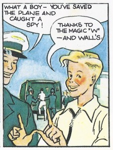 """A panel from a """"Tommy Walls"""" strip"""