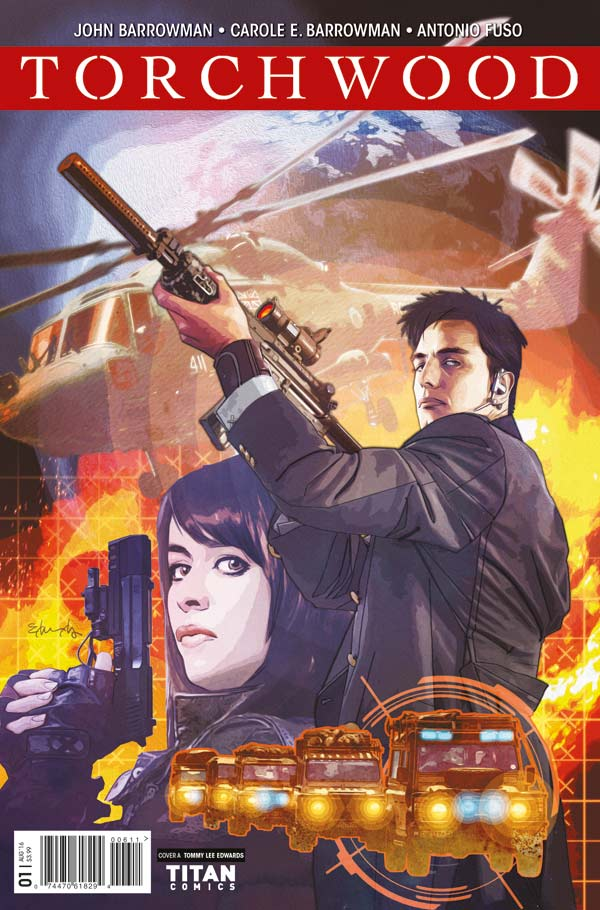 Torchwood #1 Cover A by Tommy Lee Edwards