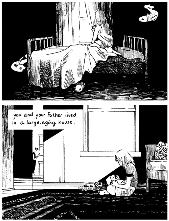 """Art from """"A City Inside"""" by the super talented Tillie Walden"""