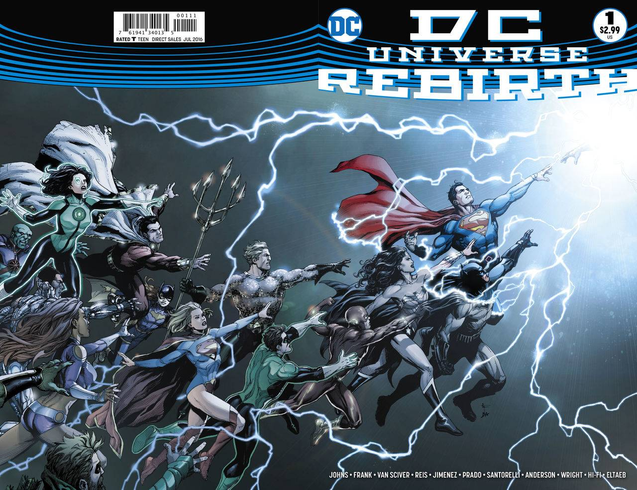 DC Universe Rebirth #1 includes art and a cover by Gary Frank