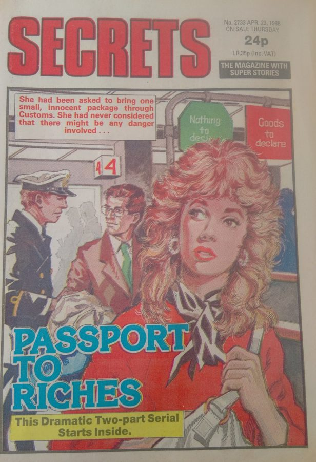 The cover of Secrets 2733, cover dated 23rd April 1988. Art by Gordon Livingstone