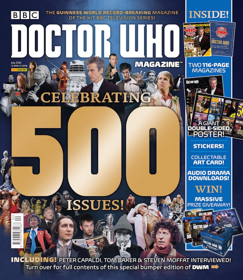 Doctor Who Magazine Issue 500 - on sale now in all good newsagents (and some run by Zygons)
