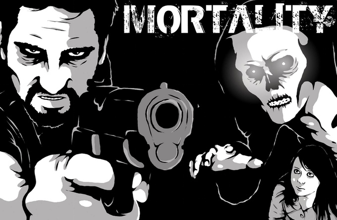 "Art from ""Mortality"" created by Luke Cooper for the Comichaus anthology."