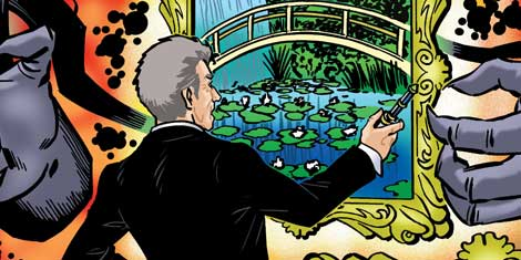 Art from the comic strip for Doctor Who Adventures Issue 16 by Russ Leach, coloured by John Burns, written by Rik Hoskin