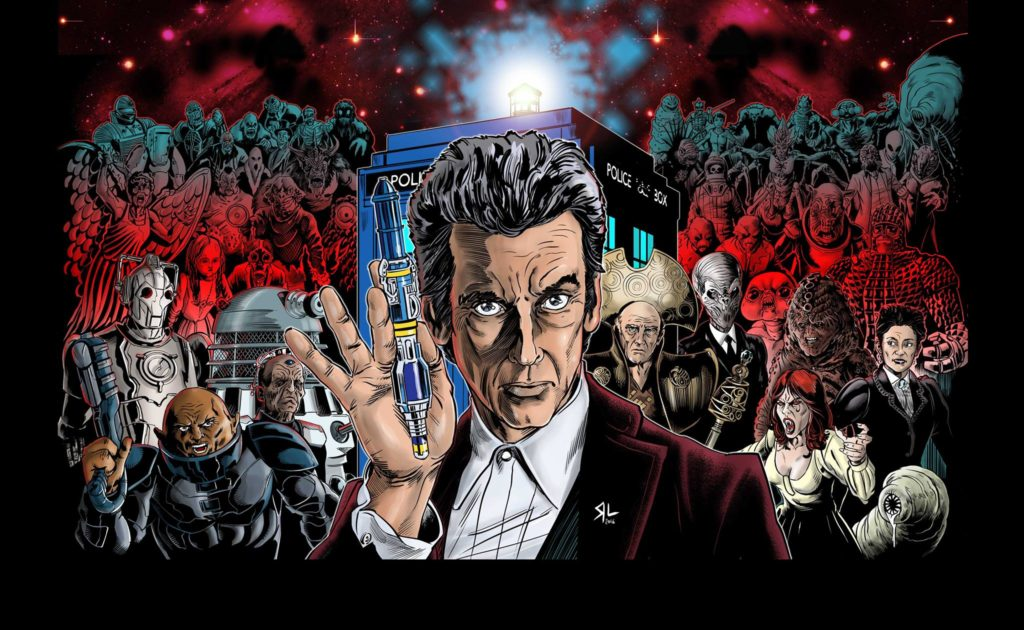 This Doctor Who montage art by Russ Leach was the top prize in the Hull Comic Con 2016 charity raffle.