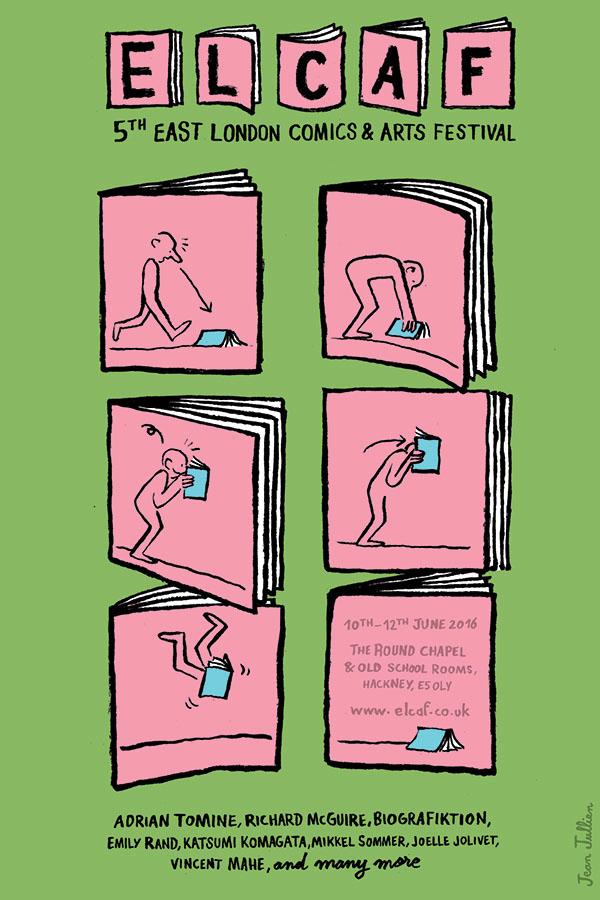 ELCAF 2016 poster by the event's artist-in-residence this year, Jean Jullien.