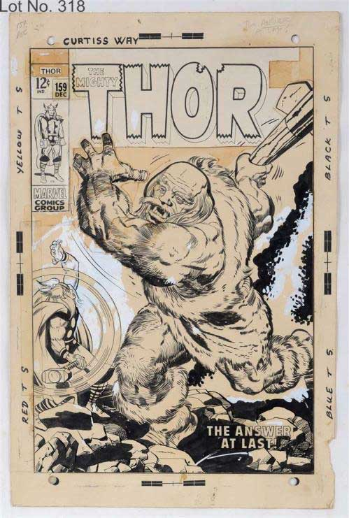 The Mighty Thor, Issue 159, December 1968 - cover by Jack Kirby and Vince Colletta