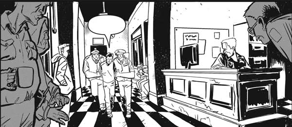 "FutureQuake 29 - ""Murder He Read"" by writer Ed Hollis and artist Jack Davies"